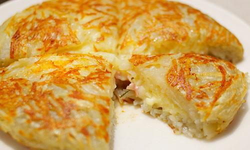 ベーコンとチーズ入りまんまるガレット